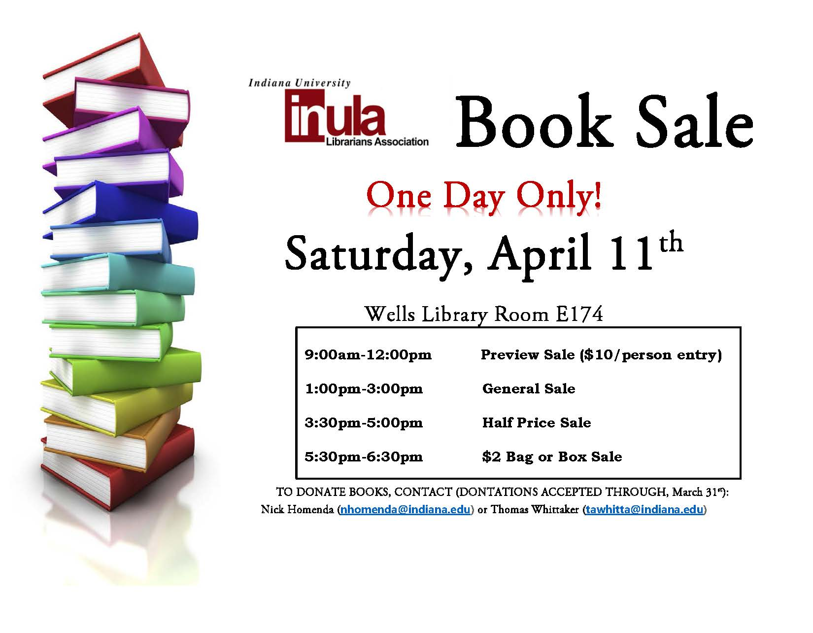 InULA Book Sale Poster 2015